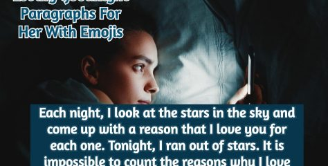 Loving Goodnight Paragraphs For Her With Emojis