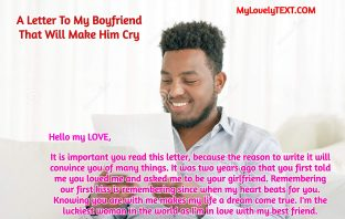 A Letter To My Boyfriend That Will Make Him Cry