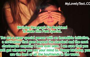 Happy Birthday Paragraph For Boyfriend