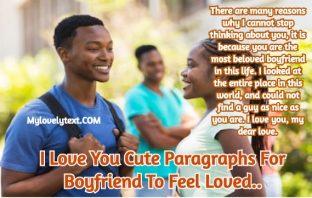 Cute Paragraphs For Boyfriend