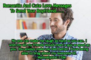 cute Messages To Send Your Boyfriend