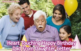 Heart Touching Happy Birthday Dad From Daughter Letter