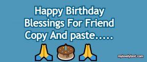 Birthday Blessings For Friend