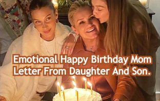 Emotional Happy Birthday Mom Letter