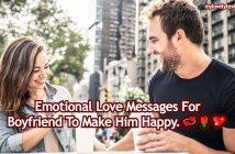 Emotional Love Messages For Boyfriend
