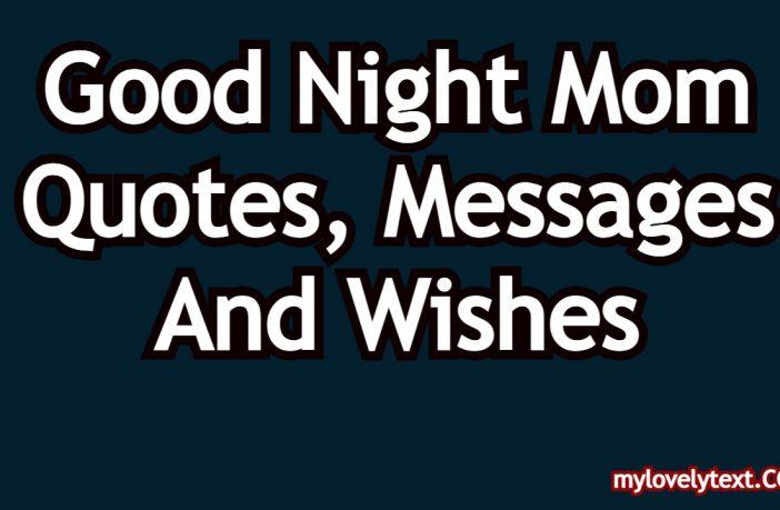 Good Night Mom Quotes
