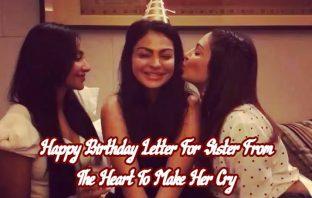 Birthday Letter For SisteR