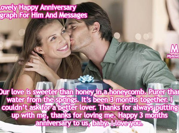 Lovely Happy Anniversary Paragraph For Him And Messages