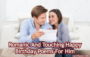 Happy Birthday Poems For Him