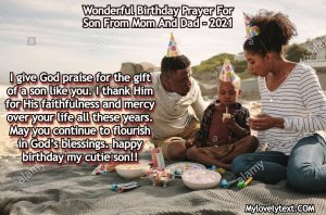 Birthday Prayer For Son